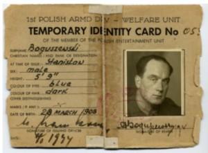 Stanisław Boguszewski oficer w polskim korpusie przy Armii Brytyjskiej