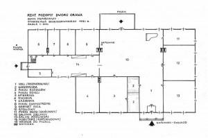 Pamięciowy plan pomieszczeń na podstawie wspomnień Stanisława Boguszewskiego w 1991 roku