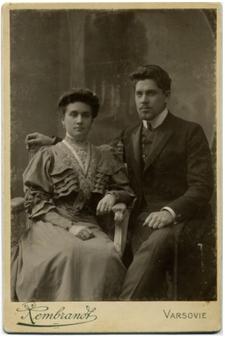 Mieczysław Boguszewski (1881-1958) z żoną Marią Sadowską